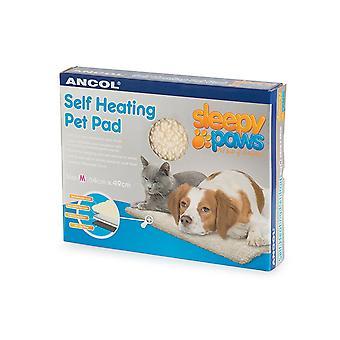 Ancol - själv värme sällskapsdjur Pad katt/hund säng - Medium