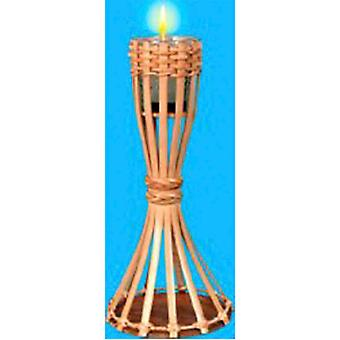 """Hawaiian Tabletop Bamboo Torch 11.5"""" Includes Candle (1)"""