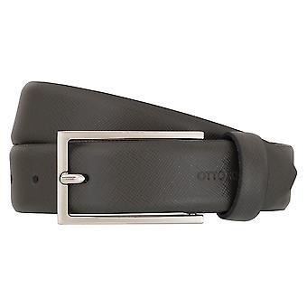 OTTO KERN belts men's belts leather belt grey 7010