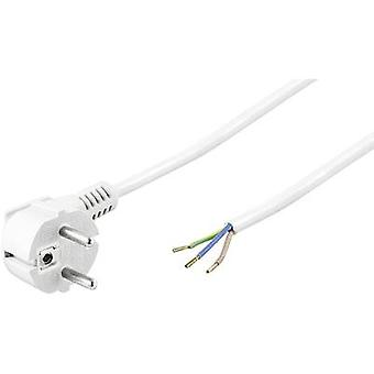 Goobay 93312 Cable de corriente Blanco 3.00 m