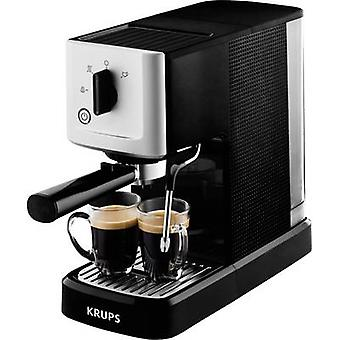 Krups Calvi XP3440 Espresso machine with sump filter holder Silver, Black 1460 W incl. frother nozzle