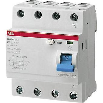 ABB 2CSF204101R1400 RCCB A 4-pin 40 A 0.03 A 230 V AC, 400 V AC