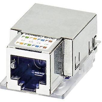 Phoenix Contact 1652936 VS-08-BU-RJ45-5-F/PK RJ45-female Insert IP20 CAT5e PATCH CABLE. 8 RJ45 Socket, horizontal mount