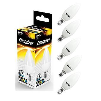 Energizer E14 SES vela LED bulbo 470lm opala 5.9W = 40W quente branco diversas quantidades