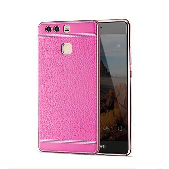 Eloisa hylsy Huawei P8 Lite 2017 tapauksessa puskurin keinonahka reissuun vaaleanpunainen