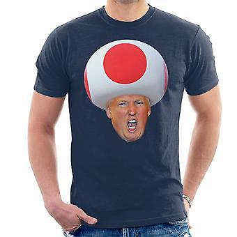 Donald Trump Foto Portrait Kröte Pilzkopf Herren T-Shirt