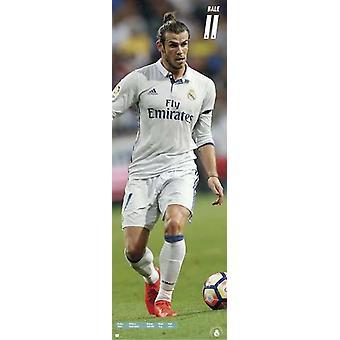 Poster di Gareth Bale ferrovia lunga Real Madrid stagione 2016/17 T rposter