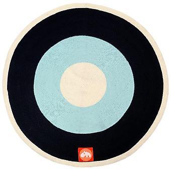Carpet Blue Disc Done by Deer