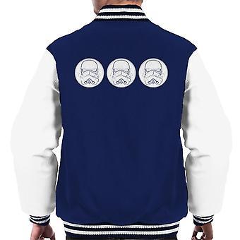 Original Stormtrooper Helmets Line Art Men's Varsity Jacket
