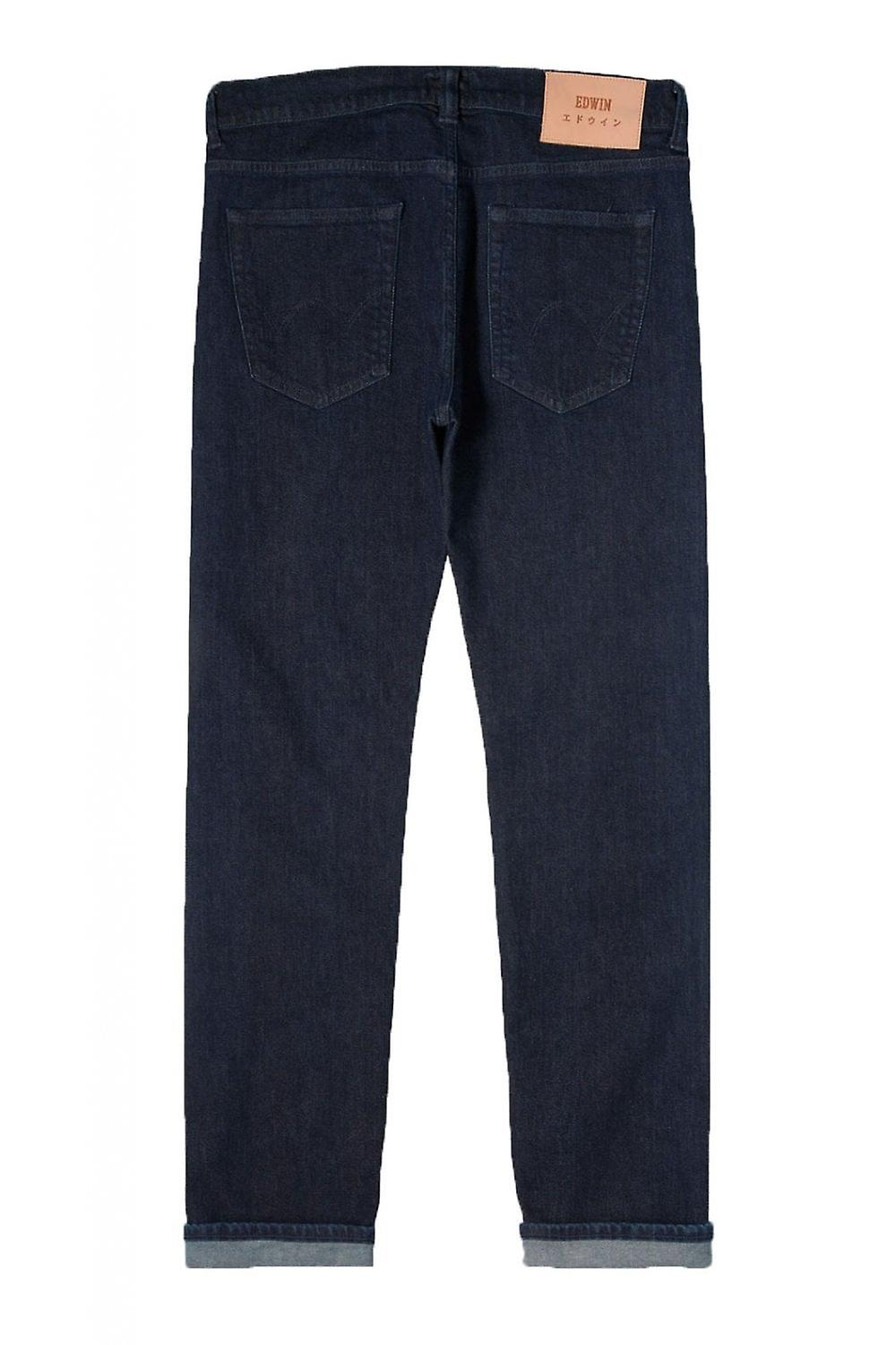 Edwin ED-80 Slim Tapered Red Listed Selvage Jeans (Blue Rinsed)