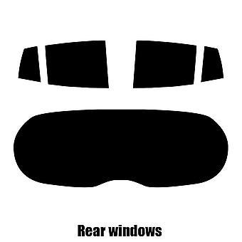 Pre cut window tint - Kia Picanto 5-door Hatchback - 2004 to 2010 - Rear windows