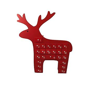 Gisela Graham Christmas Red Scandi Reindeer Advent Calendar