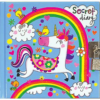 Rachel Ellen Girls Unicorn Design Lockable Secret Diary