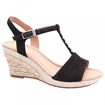 Gabor Beatrice T Bar Wedge Sandal