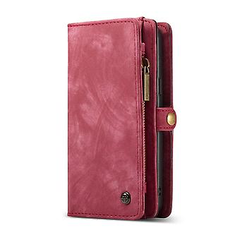 CASEME Samsung Galaxy S9 Retro leather wallet Case-red