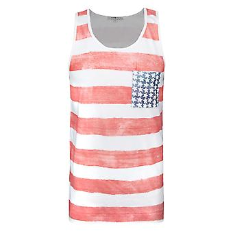 Junk Food American Flag Men's Vest Multicoloured