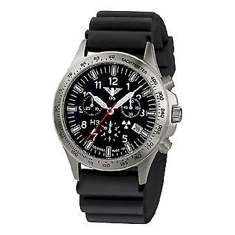 KHS horloges mens watch peloton titanium chronograaf KHS. PTC. DB