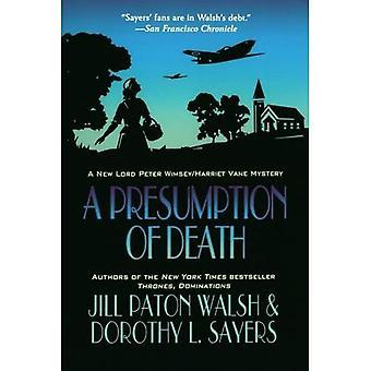 Een vermoeden van overlijden: een nieuwe Lord Peter Wimsey/Harriet Vane mysterie