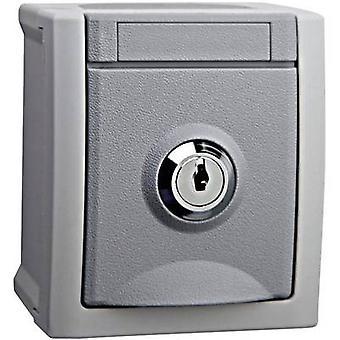 VIKO Wet Room switch produktsortiment PG socket (aflåselig) Pacific Grey 90591044-DE