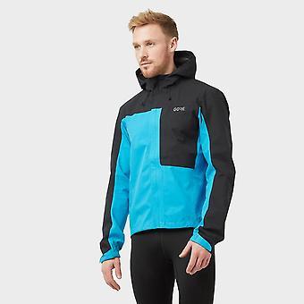 New Gore Men's C3 GORE-TEX Paclite Hooded Waterproof Cycling Jacket Blue