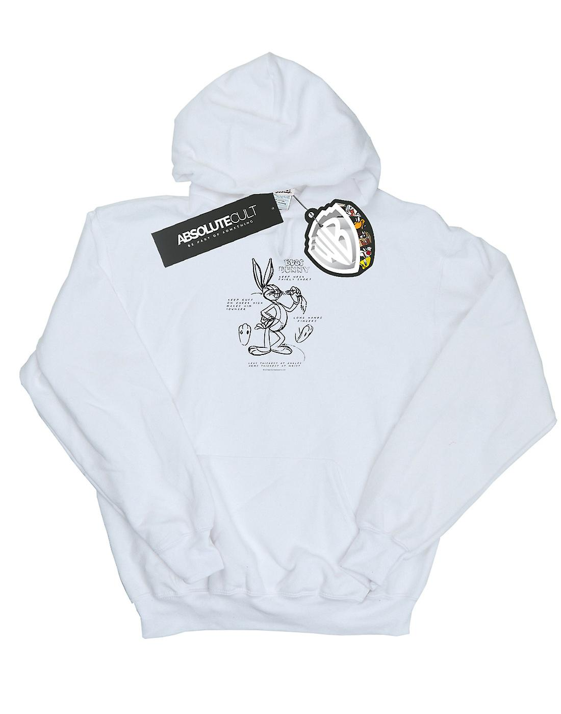 Looney Tunes Girls Bugs Bunny Drawing Instruction Hoodie