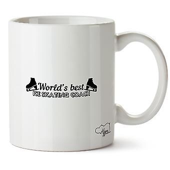 Hippowarehouse World's  Best Ice Skating Coach Printed Mug Cup Ceramic 10oz