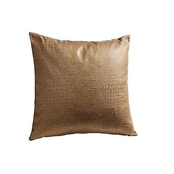 4 piece Gözze high quality decoration pillow case marble look brown approx. 40x40cm