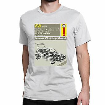 Officiële Haynes handmatige T-shirt Unisex VW Diesel GOLF 78 tot en met 84, JETTA 81 tot en met 84 Owners Workshop Manual