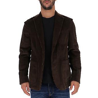 The Gigi Angiej074400 Men's Brown Velvet Blazer