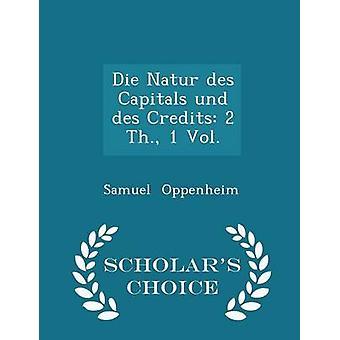 يموت العواصم des Natur und des الائتمانات 2 ث. vol. 1  الطبعة اختيار العلماء قبل اوبنهايم & صموئيل