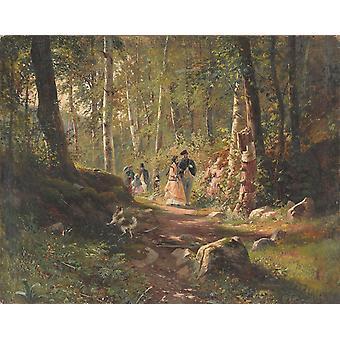 نزهة في الغابة، إيفان شيشكين، 50x40cm