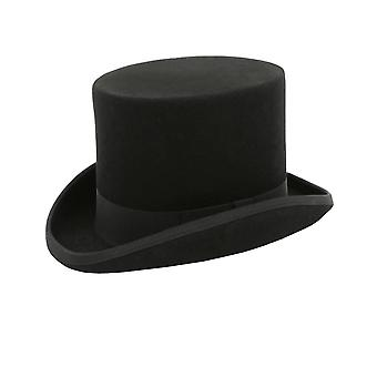 Dobell Boys Black Top Hat 100% Wool Classic Formal Wedding
