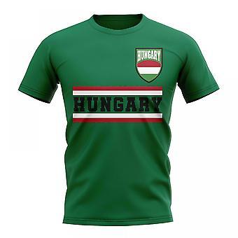 Hongrie Core Football pays T-Shirt (vert)