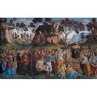 Testament and Death Moses, Luca Signorelli, 60x38cm