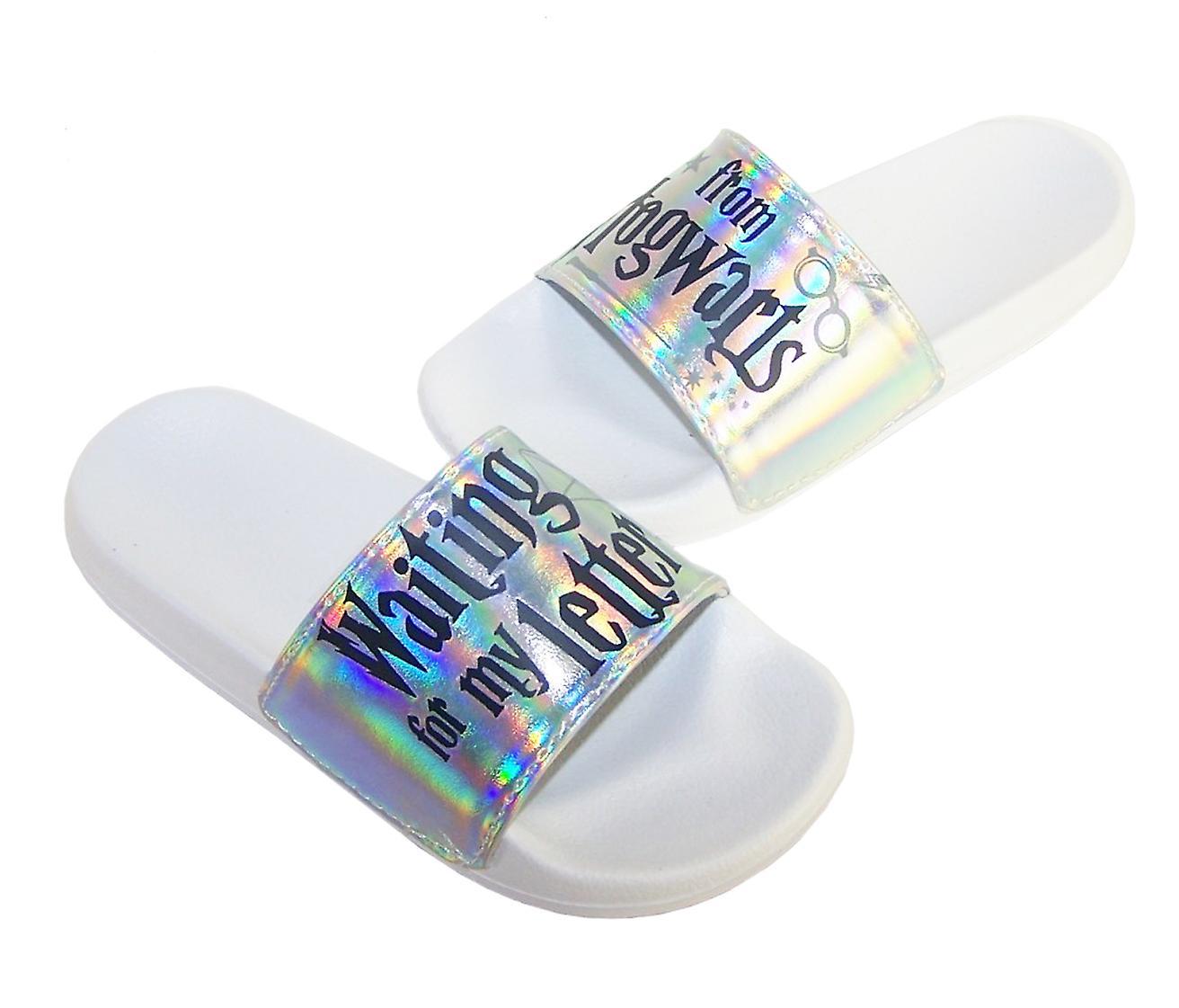 Childrens white Harry Potter slider sandals