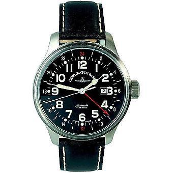 Zeno-watch mens watch OS pilot (dual time) 8563-a1