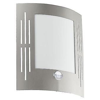 EGLO City PIR utomhus IP44 rostfritt stål Wall Light
