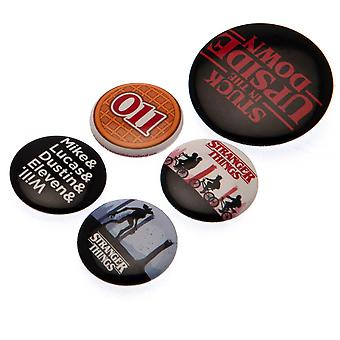 Stranger Things Button Badge Set (Pack of 5)