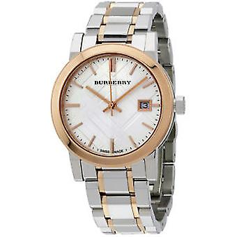 Burberry Women's Bu9105 Large Two Tone Stainless Steel Watch