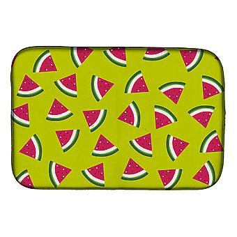 Carolines Treasures  BB5151DDM Watermelon on Lime Green Dish Drying Mat