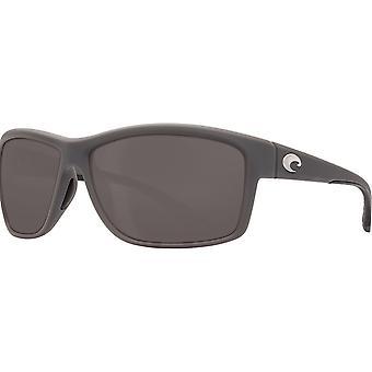 Costa Del Mar Mag Bay polarizzata occhiali da sole grigi opachi - AA-98-OGGLP