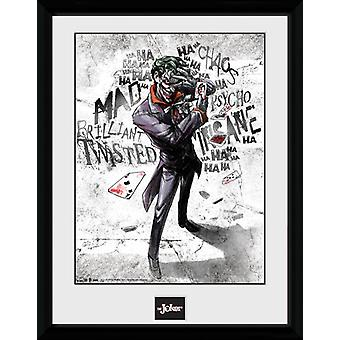 Batman Comic Joker Type ingelijst Collector Print 40x30cm