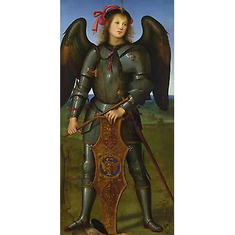 The Archangel Michael,Pietro Perugino,80x40cm
