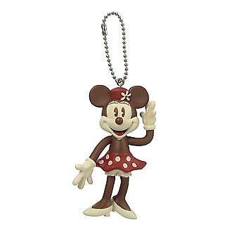 Key Chain - Disney - Minnie (Brown) PVC Bendable New 85633