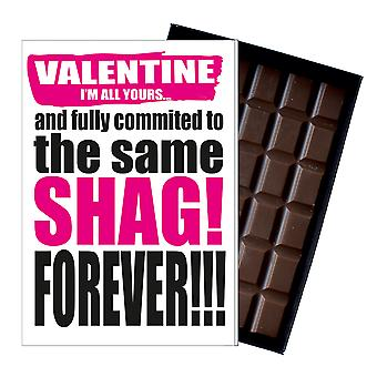 Funny Valentine's Day Gift A Rude Naughty Present for Men Chocolate Greeting Card IYF104