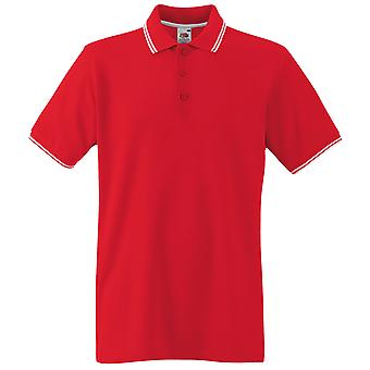 Fruit Of The loom - Mens Tipped Polo Shirt