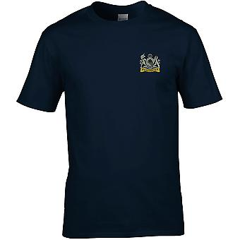 Manchester Regiment-licensierade brittiska armén broderade Premium T-shirt
