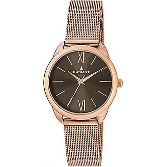 Radiant new peach Quartz Analog Woman Watch with RA419601E Gold Plated Stainless Steel Bracelet