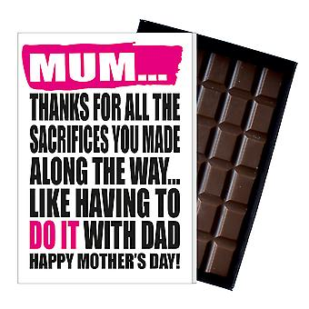 Funny Mother's Day Gift Boxed Chocolate Present Rude Greeting Card For Mom Mum Mumy MIYF141