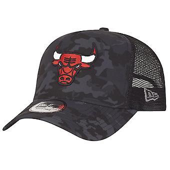New era adjustable camo Trucker Cap - Chicago Bulls dark